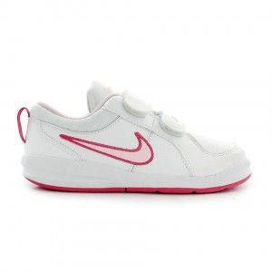 Deportiva Nike pico 4 blanca y rosa