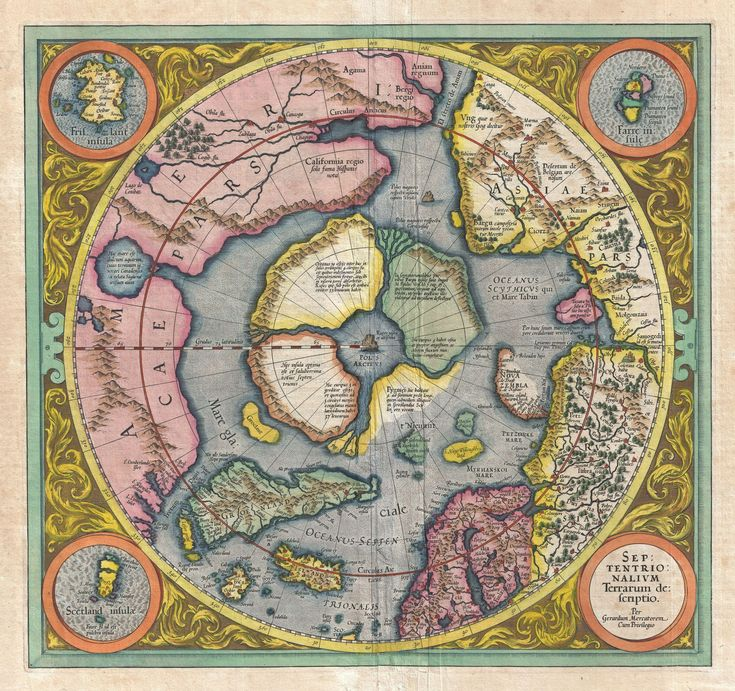 11 best maps images on pinterest flat earth antique maps and 1606 mercator hondius map of the arctic first map of the north pole geographicus northpole mercator 1606 gumiabroncs Images