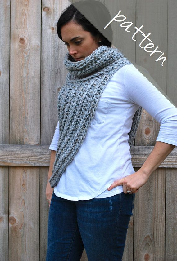 Crochet PATTERN Cross Body Cowl Scarf par AshleyLillisHandmade