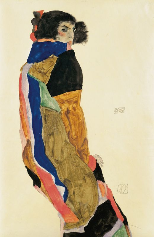 Egon Schiele - The Dancer Moa, 1911, watercolour on paper