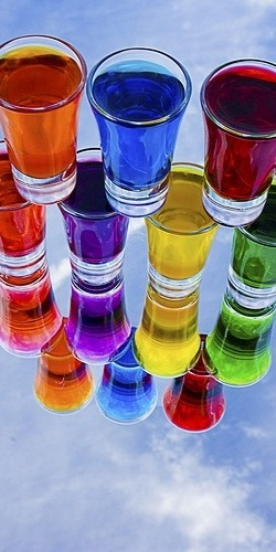Glasses of colour