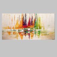 Handgeschilderde Abstract / FantasieModern Eén paneel Canvas Hang-geschilderd olieverfschilderij For Huisdecoratie – EUR € 58.20