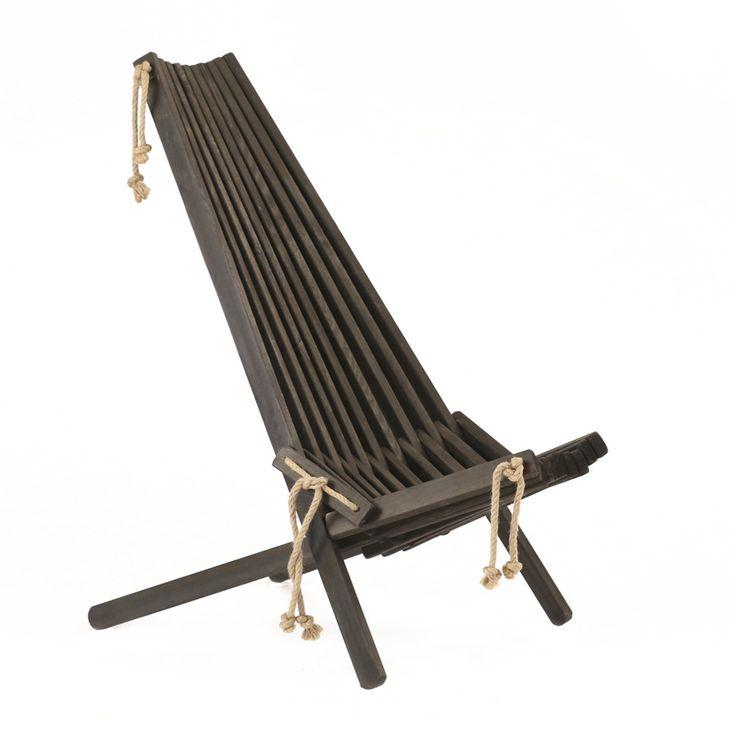 Leżak ekologiczny EcoChair, czarna sosna | Bonami