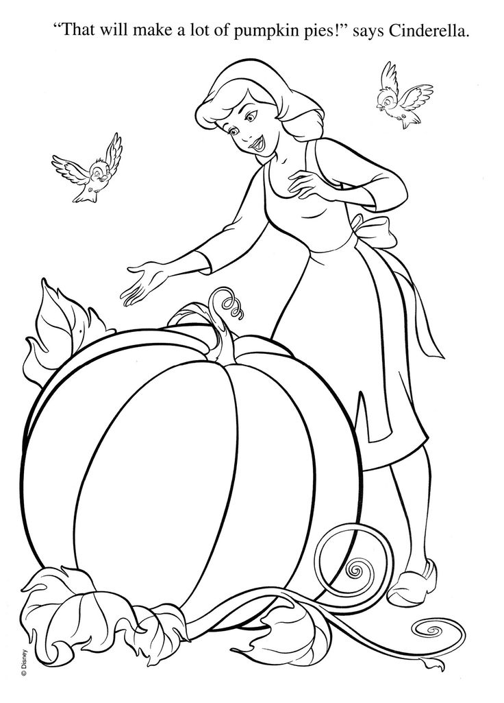 Cinderella Coloring Pages And Squash