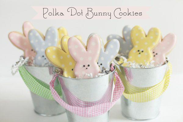 Polka Dot Bunny Peep Cookies