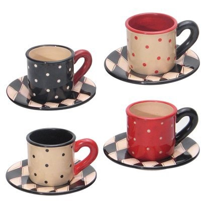 I really love these cute cups and saucers they would suit most peoples decor
