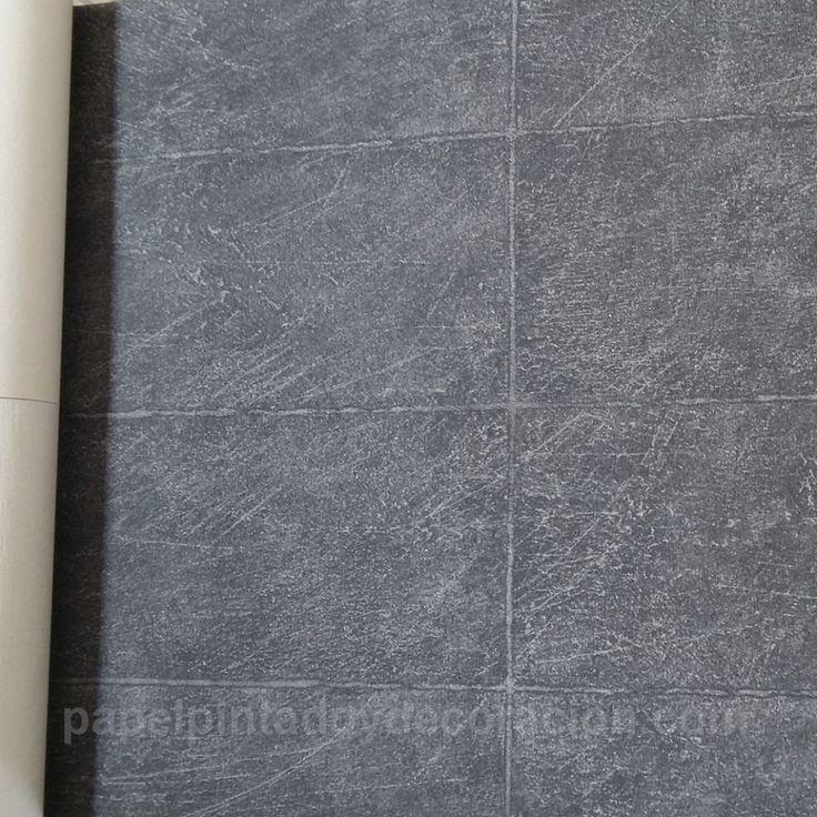 Papel pintado Caselio muro de piedra gris oscuro textura rugosa KDO63599163