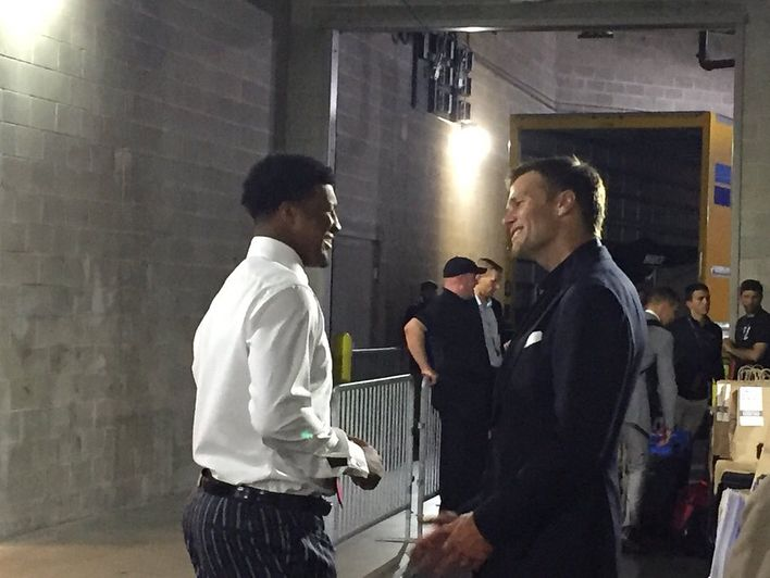 Tom and Jamies Winston last night after the game ! 🔥