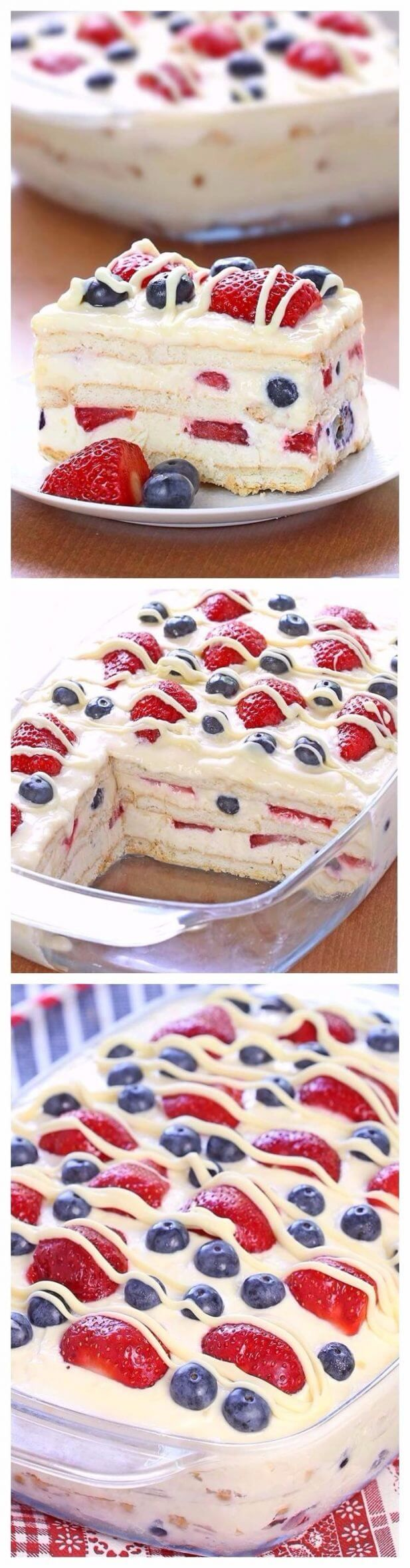 No Bake Summer Berry Icebox Cake | Tasty Food Collection
