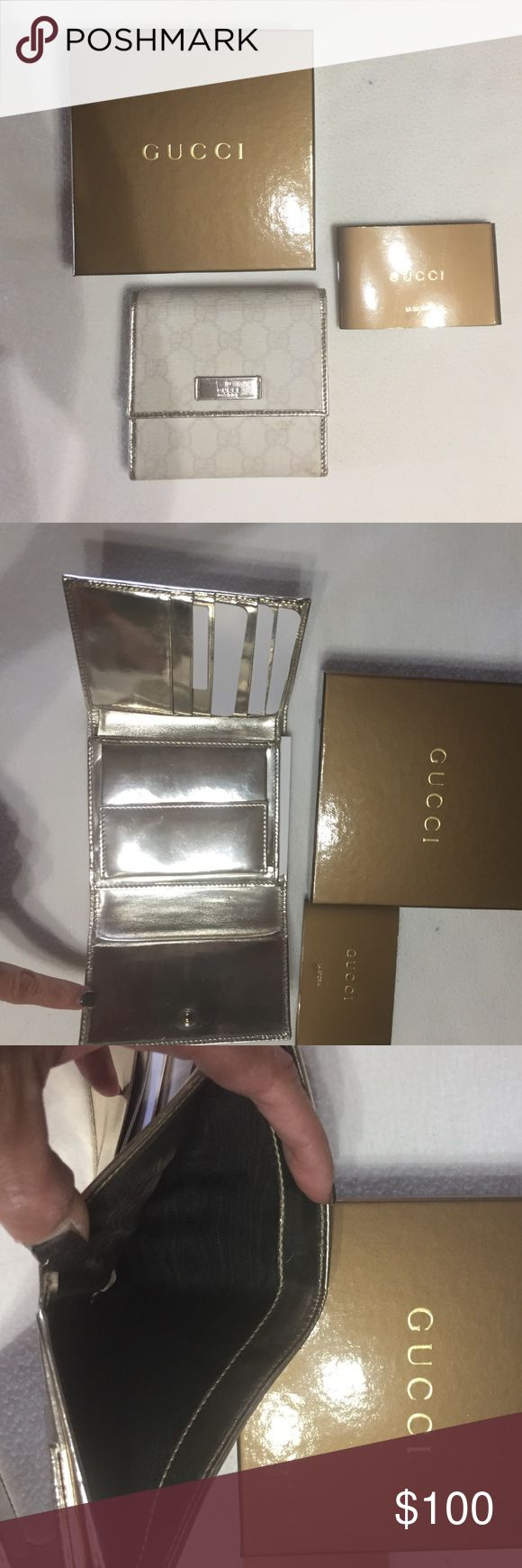 Authentic Gucci Wallet Authentic Gucci Wallet in great condition.  Used a handful of times.  Matches the bag for sale.  Will bundle for sale of both items. Gucci Bags Wallets