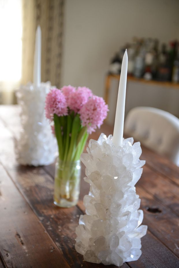 pretty geode candlesticks....i need these for my rock collection...I just wish the store was a little closer :)