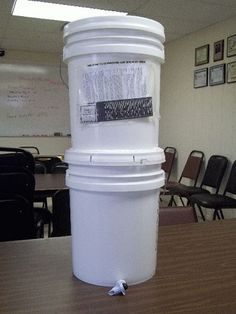 Make Your Own Gravity Fed Home Water Filtration System
