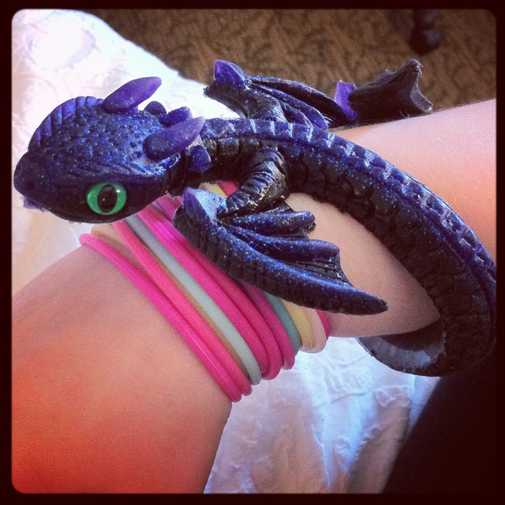 Toothless lookalike bracelet bought at Gencon 2012