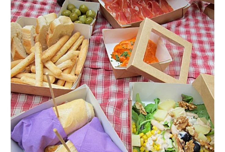 Bacchetteforchette offre la possibilità di personalizzare il package utilizzato per l'inscatolamento dei piatti.