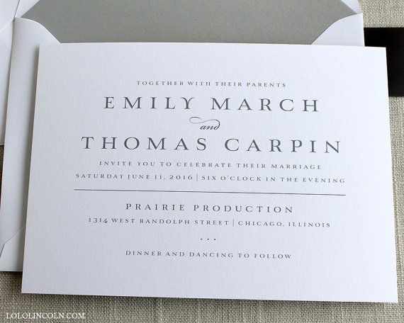Chevron Wedding Invitation SAMPLE by LoloLincoln on Etsy