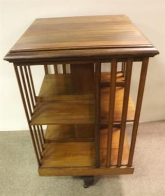 Large Walnut Revolving Bookcase