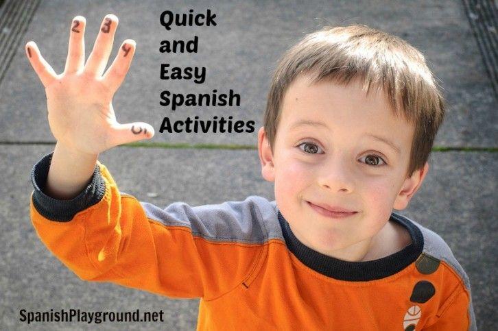 5 quick no-prep Spanish activities for kids. http://spanishplayground.net/spanish-activities-easy-ideas-kids/