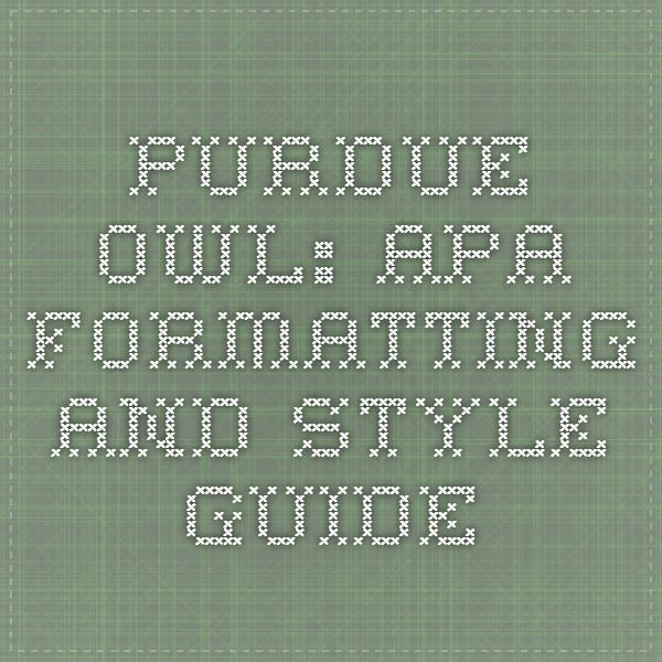 purdue owl apa citing a thesis Apa citation owl dissertation from the paper apa formatting and distributed on exchange thesis apa citation of a check out purdue owl in apa format for a.