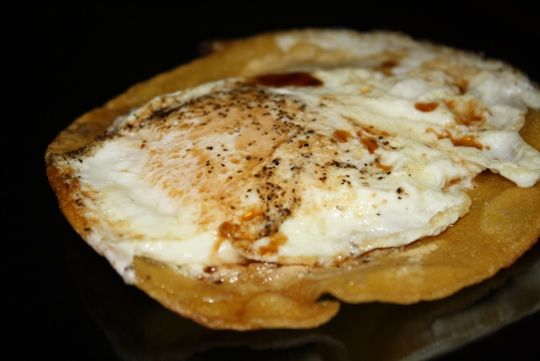 Dr. Phil's Sunday Eggy Thing-Just tried this and it's really good!  (Not a bad late night snack either)  Would be good with hot sauce too.