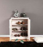 Buy Medium Size Shoe Rack in Beige Finish by The Furniture Store  Online: Shop from wide range of Shoe Racks Online in India at best prices. ✔Free Shipping✔Easy EMI✔Easy Returns