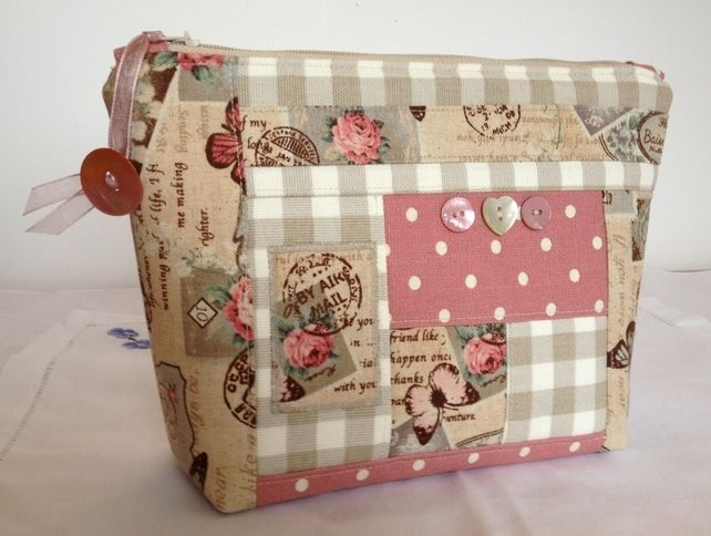 Patchwork Cosmetic Purse