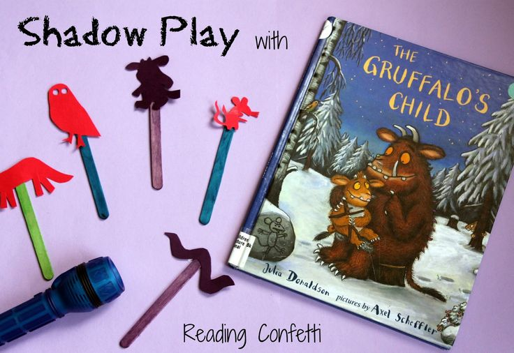 Reading Confetti: Shadow Play with The Gruffalo's Child: Virtual Book Club for Kids
