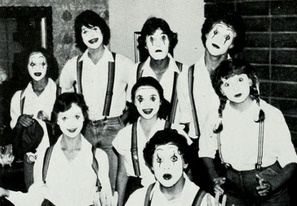 The 1981 Mime Troop in the yearbook at University High School in Irvine, California.  #UniversityHighSchool #Irvine #yearbook #1981