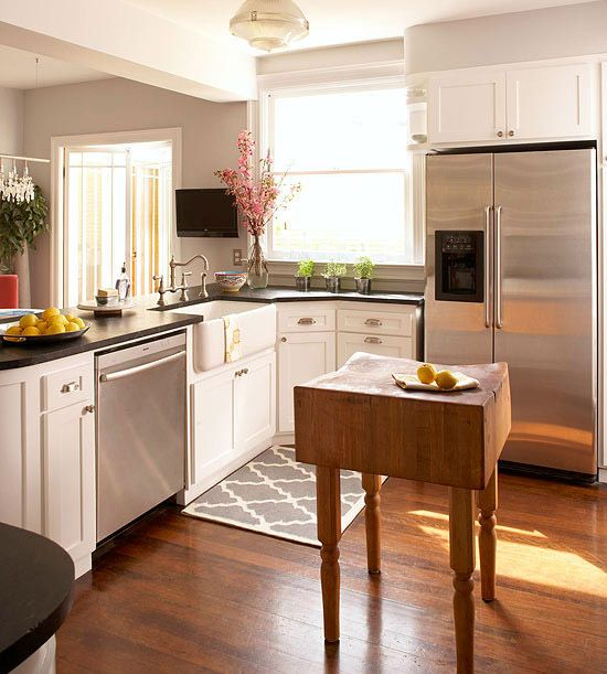 Best 25 small kitchen layouts ideas on pinterest for Kitchen cabinets 999