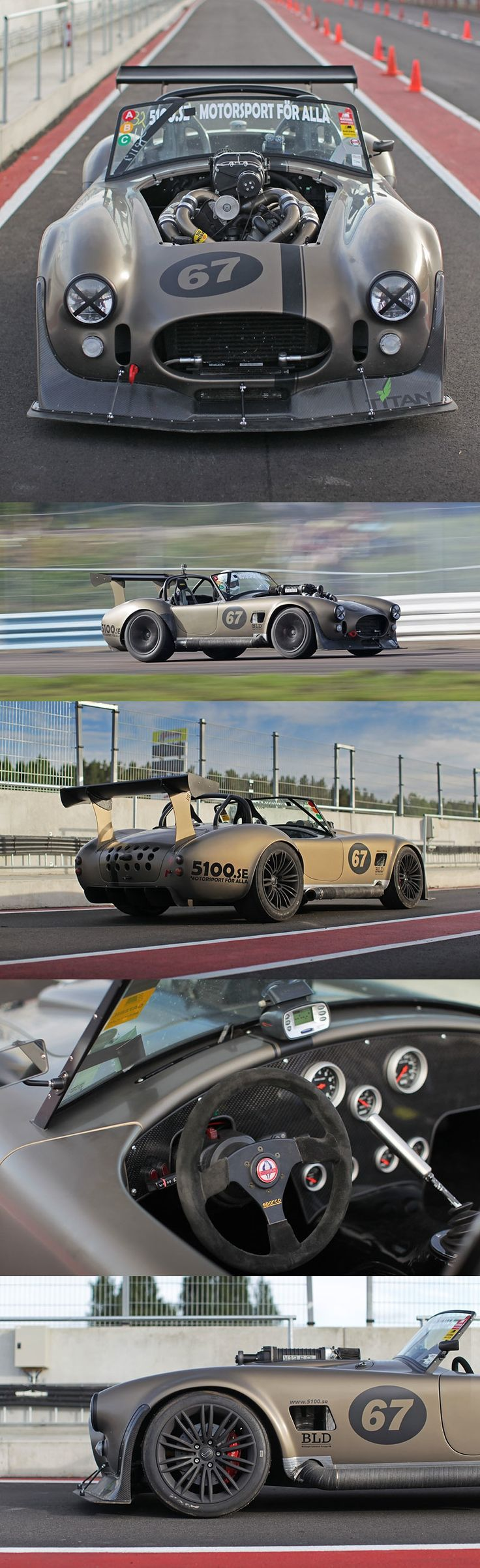 47. Magnus Jinstrand Mercedes V-12 powered Shelby Cobra. 492whp / 600hp at the crank; Lyshom 3500 twin-screw supercharger!