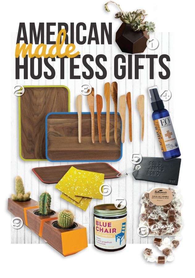 American Made, Made in USA Gift Guide for Hostess gifts