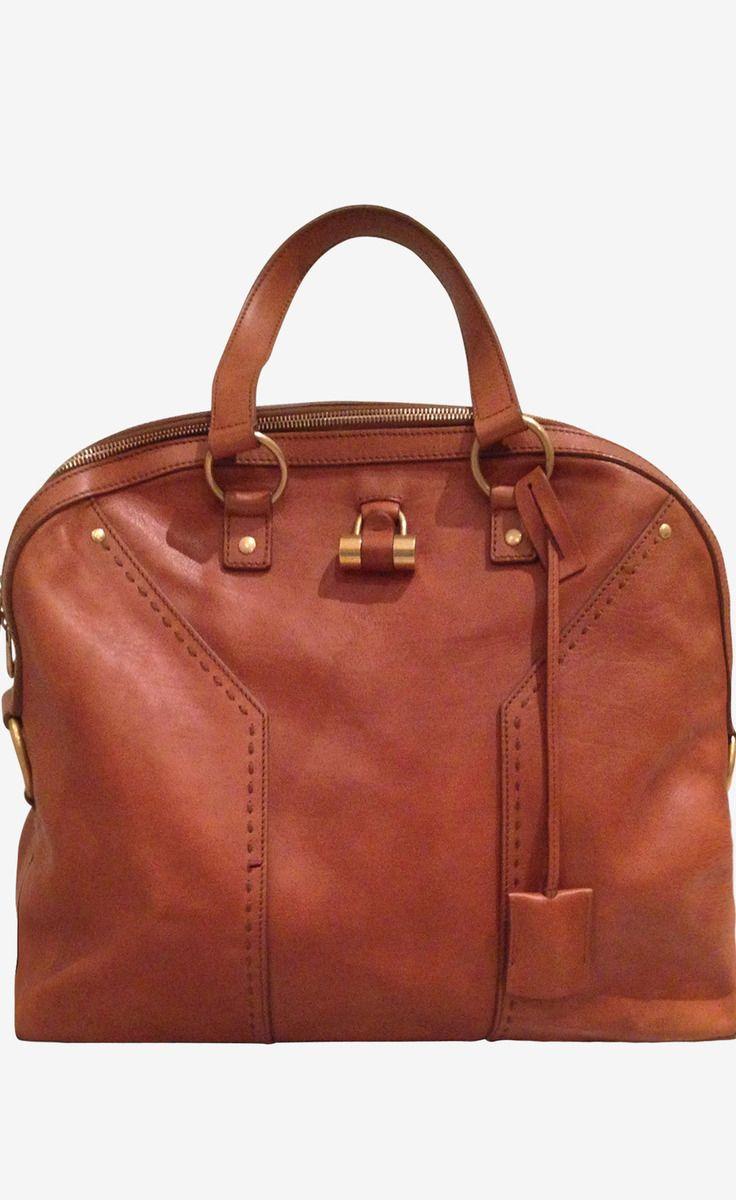 Dark Tan Handbag @Pascale Lemay De Groof