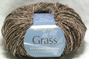 Grass / hemp yarn!  Awesome!