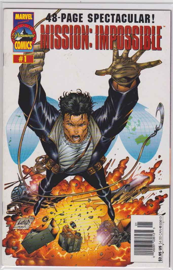 Mission Impossible One-Shot (1996)  Rob Liefeld Cover & Pencils, Marv Wolfman Story, 1st Paramount Comics book. A prequel to the first movie. 1st Appearance of Ethan Hunt in comic books