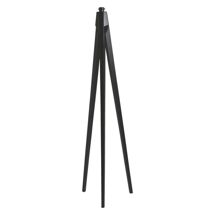 TRIPOD Dark stained wooden tripod floor lamp base | Buy now at Habitat UK