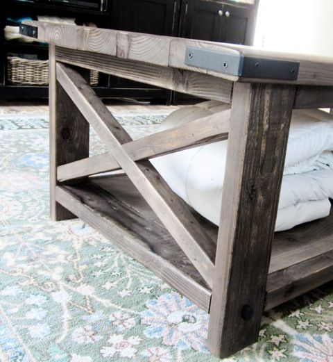 Ana white build a rustic x coffee table free and easy Rustic coffee table design plans