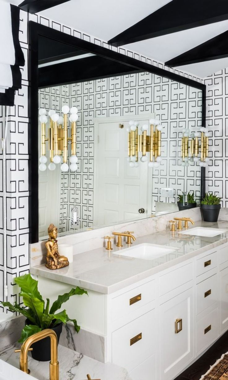 Meurice Five Arm Wall Light By Jonathan Adler Ra S686 Bathroom Trends Black Bathroom Bathroom Wallpaper