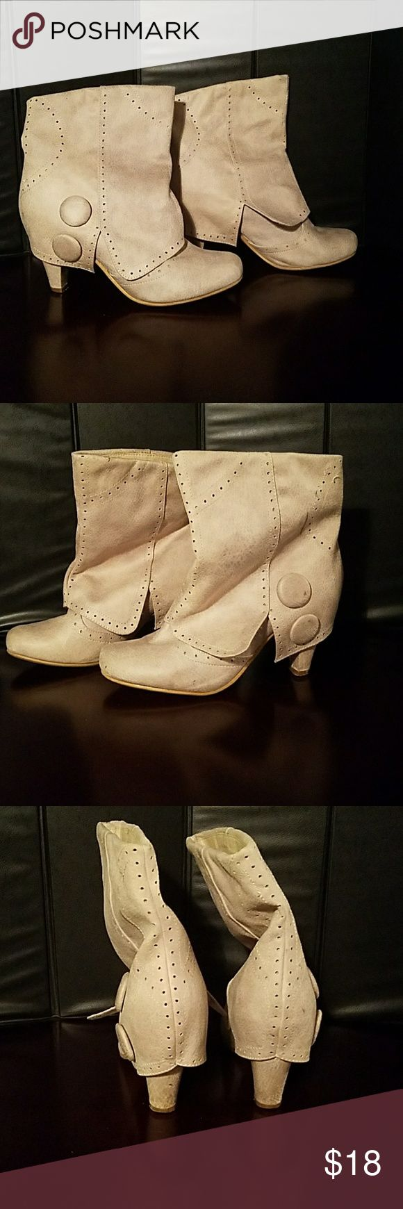 """NOT RATED BOOTS Cream colored """"Not Rated"""" Boots Not Rated Shoes Ankle Boots & Booties"""