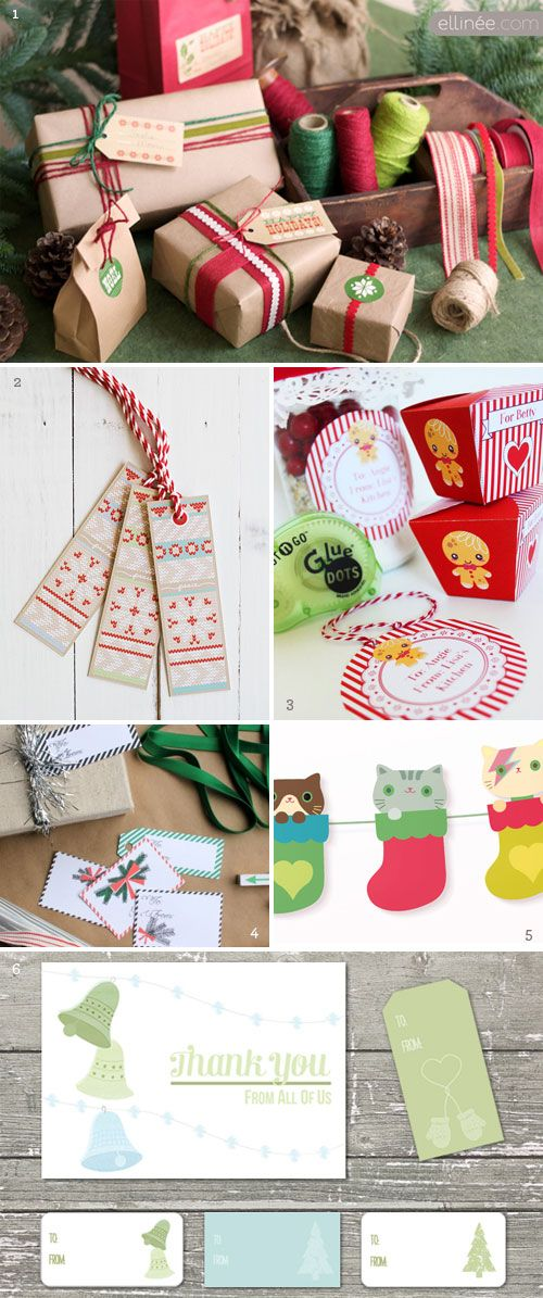 Holiday Printables: Holiday Printable, Printables Christmas Free, Holiday Gift, Gift Wrapping, Free Christmas Printables, Holiday Goodies, Free Printables Christmas, Packaging Ideas, Printable Holiday