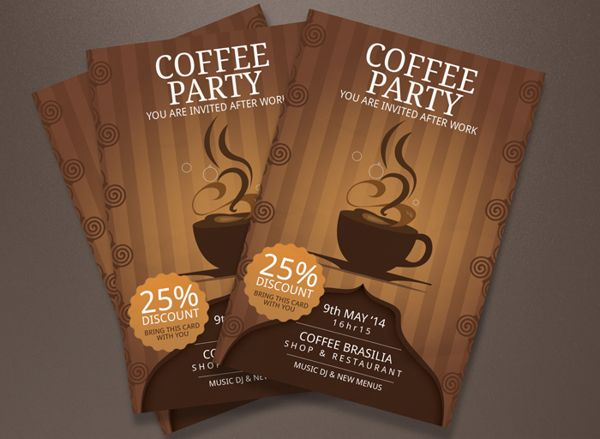 20 best wwwbehancenet images on Pinterest Work on, Advertising - coffee shop brochure template