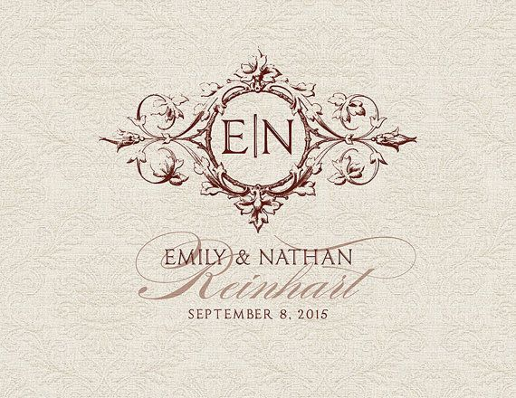 Custom Wedding Monogram Wedding logo by RoseBonBonShop on Etsy