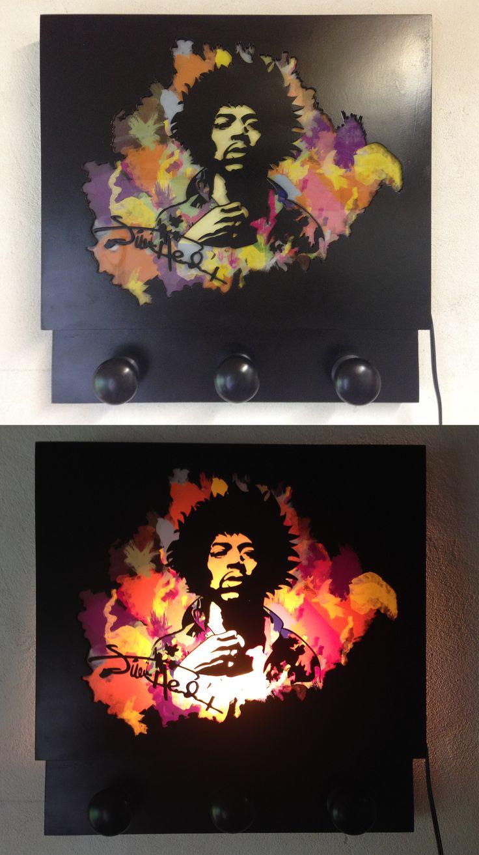 Jimi Hendrix MDF, laser cut