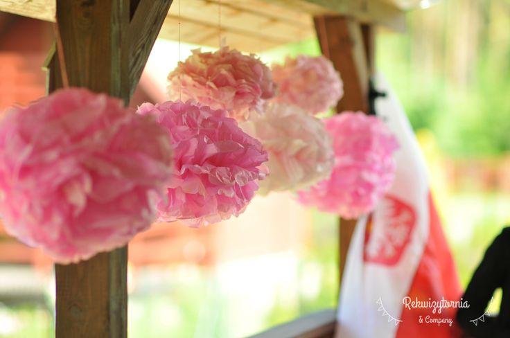 Papierowe pompony. #rekwizytorniaandcompany #wesele #urodziny #dekoracje #pompons #trójmiasto