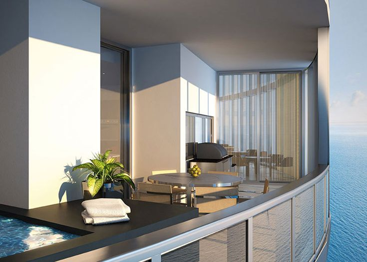 201 best balconies images on pinterest architecture for Condo balcony design