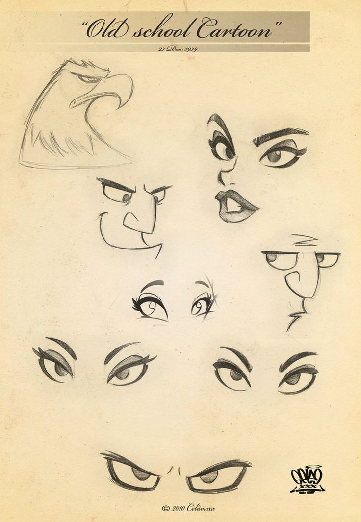 Drawings of Eyes page40 by celaoxxx on deviantART