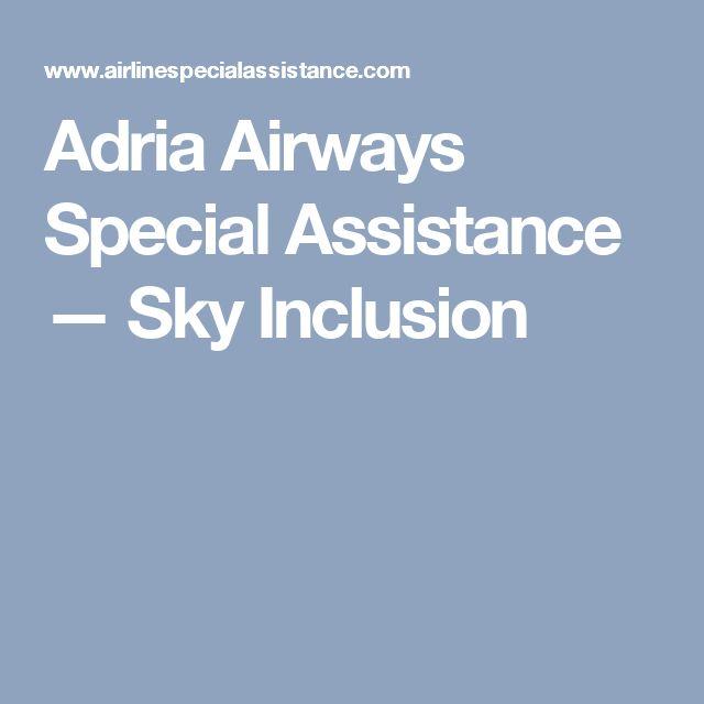 Adria Airways Special Assistance — Sky Inclusion