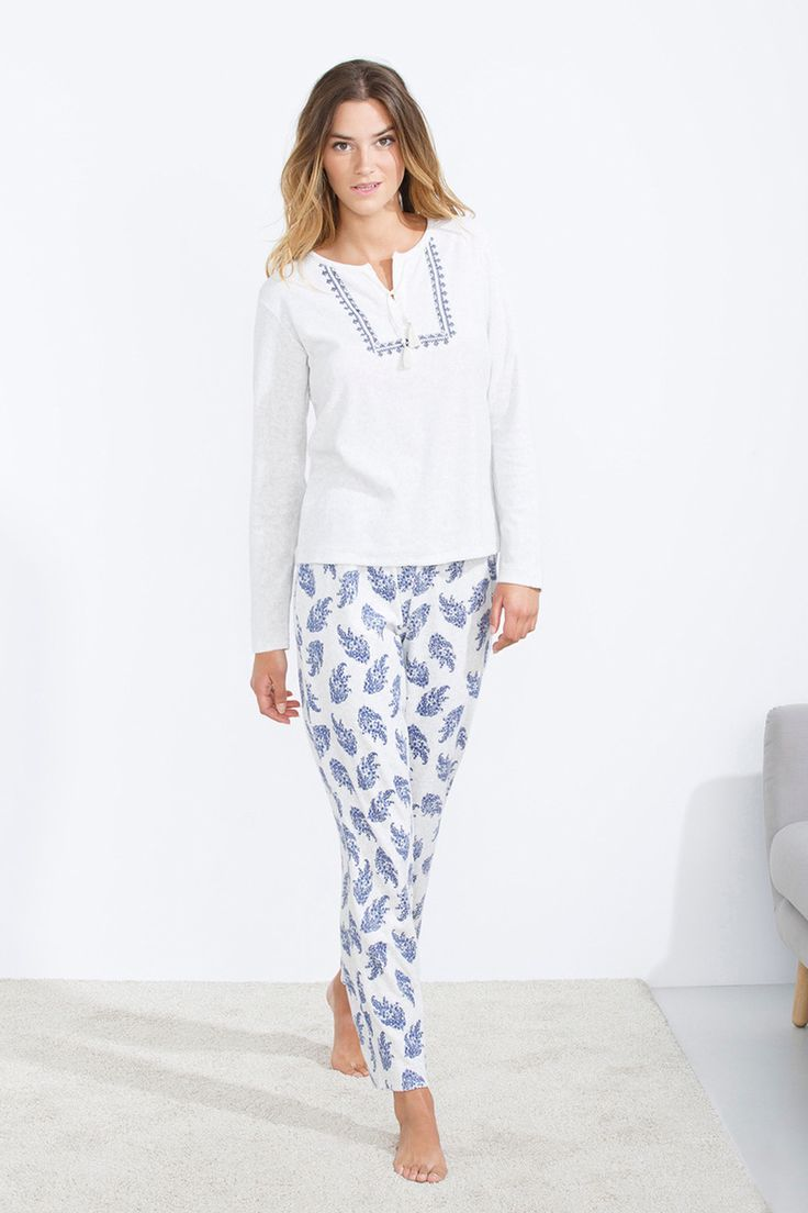 women'secret   Blue nomad   Pijama largo boho