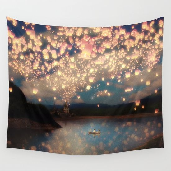 Love Wish Lanterns by Paula Belle Flores #homedecor #tapestries