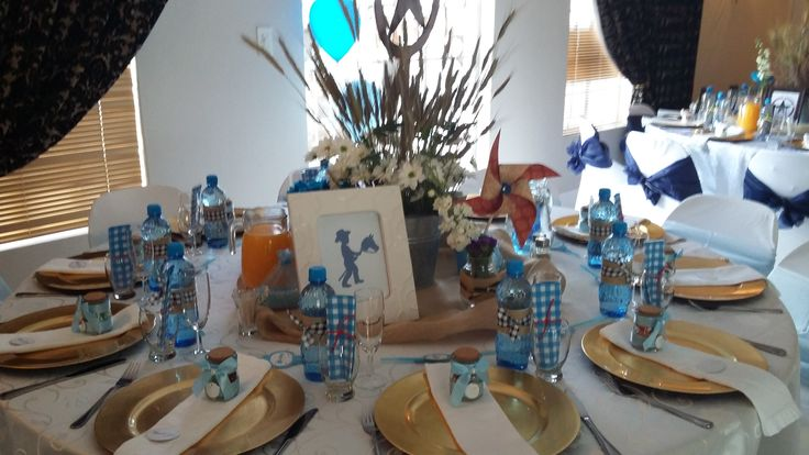 Blue Baby shower Table scapes @ Villa Maria Guest Lodge