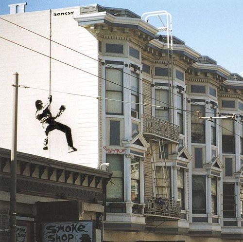 Banksy - Abseiler