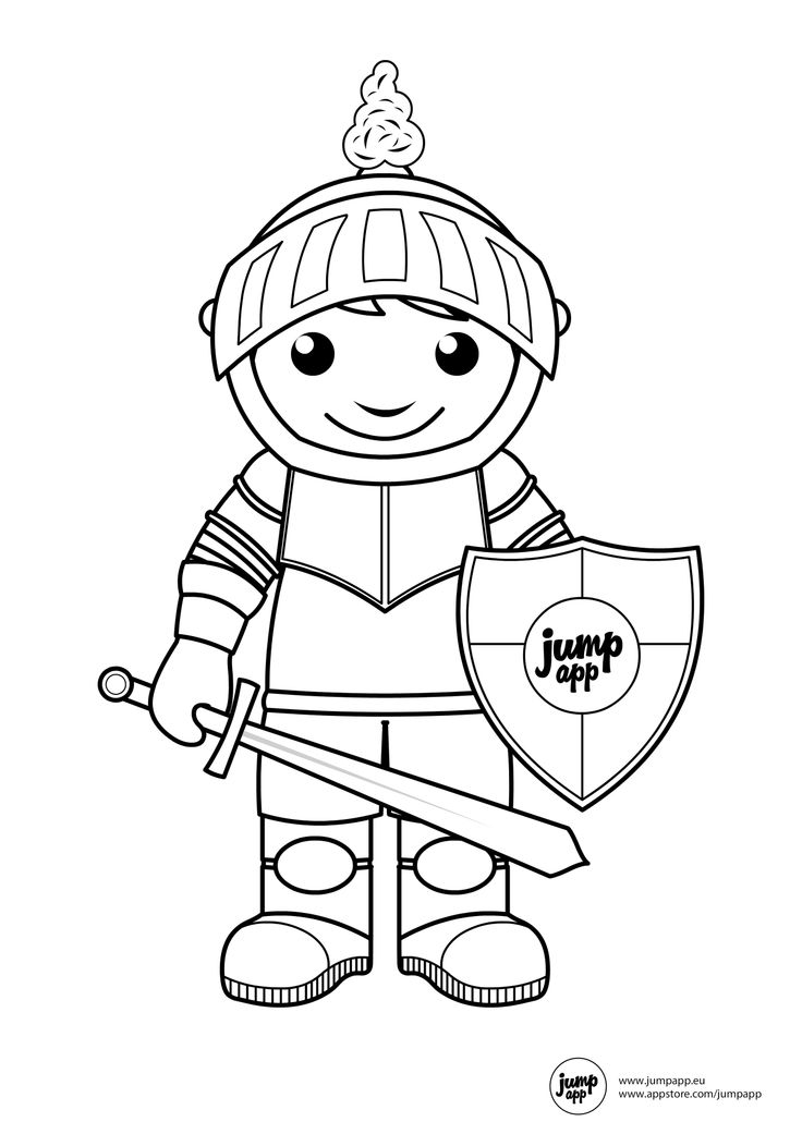 knight | Printable Coloring Pages | Pinterest